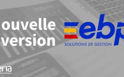Nouvelle version des logiciels EBP