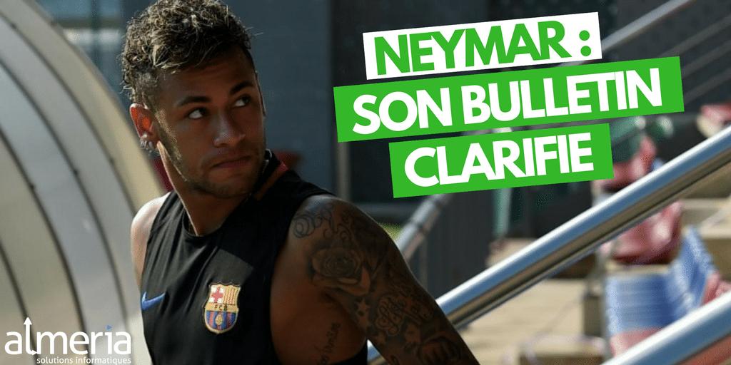Le bulletin de paie de Neymar